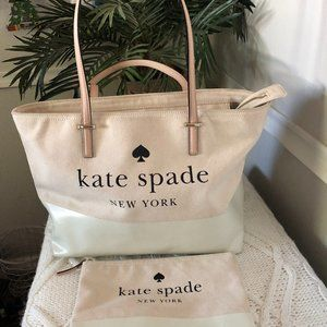 Kate Spade Canvas Remmi Tote and Zip Pouch